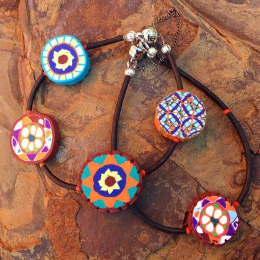 Millefiori bracelets