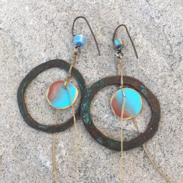 Polymer Power Coin earrings